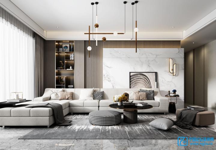 本案为碧桂园260大平层,保留了精装房配套的设施硬装,通过风格的改造让其呈现出一种新的现代轻奢的基调。...
